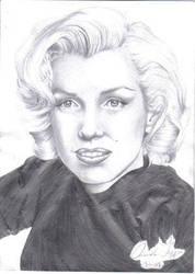 Sweater Marilyn by HavokMonroe by PortraitPencilArt