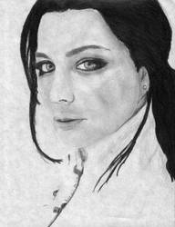 Amy Lee by x-VelvetChains-x by PortraitPencilArt