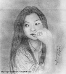 jeon ji.. by angel-shinkumi01 by PortraitPencilArt