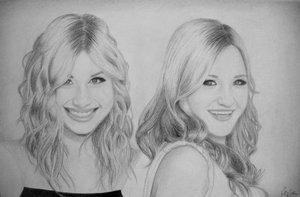 Aly and AJ by pepperbunbun by PortraitPencilArt