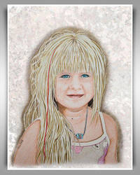 A Blond Girl by Streichelweich by PortraitPencilArt