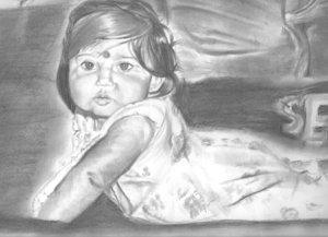 baby me selfpor.. by pavidagr8 by PortraitPencilArt