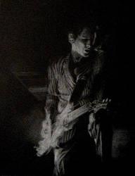 Matthew Bellamy by chatdore by PortraitPencilArt