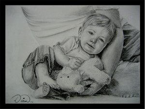 So Sweeeet Angel.. by Dina-n1 by PortraitPencilArt