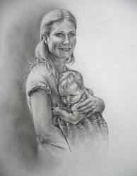 Gwyneth and ..by Artfinale by PortraitPencilArt