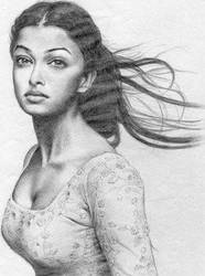 Aishwarya by Artfinale by PortraitPencilArt