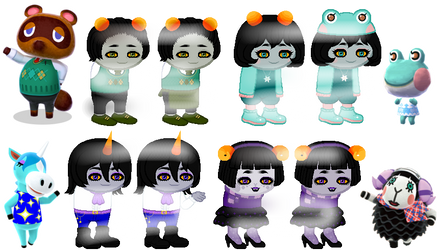 Fantroll Adopts AC Villagers [1/4 Open] by Pastellilapsi