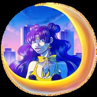 Sailor Moon_ Human Luna by KiaSimo