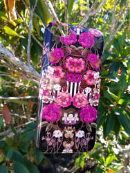 'Pink Floral Crossings' iPhone Case by Zala02Creations