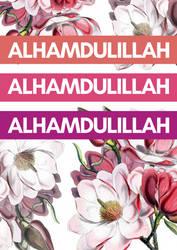 Alhamdullilah - Ramadan 2018 Poster by Zala02Creations