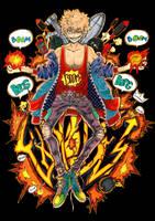 Explode! Bakugou Katsuki by Pertaret