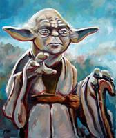 Yoda by Art-deWhill
