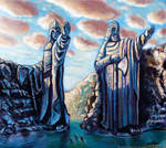 The Passing of the Argonath by Art-deWhill