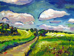 Yellow Fields by Art-deWhill