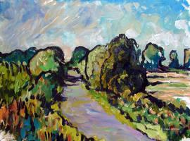 Weg zwischen Feldern by Art-deWhill