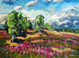 Birken in der Nemitzer Heide by Art-deWhill