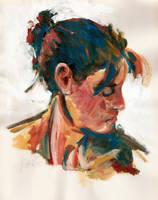 Portraitstudie by Art-deWhill