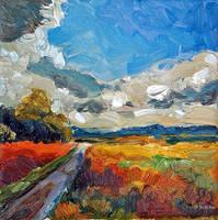 Felder in Licht und Schatten by Art-deWhill