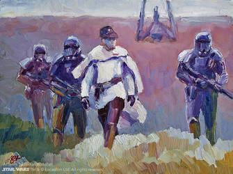 Krennic arrives on Lah'mu by Art-deWhill