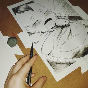 Working late in the studio by Avathae-Mangaka