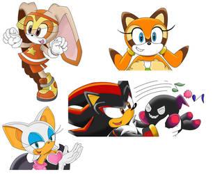 Miscellaneous Sonic characters by Teejii
