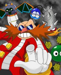 Eggman and his robots by Teejii