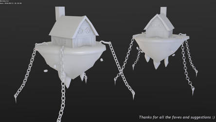 Low-poly floating house fix by betasector