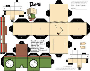 Doug Funnie Cubee Template by jordof131