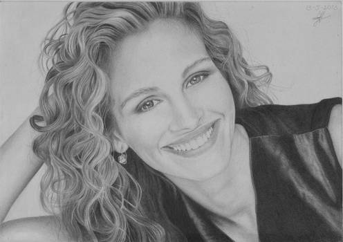 Julia Roberts Drawing by Jeroen88