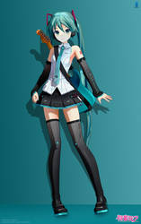Rock on (Hatsune Miku V4X) (MMD) by mjq3690