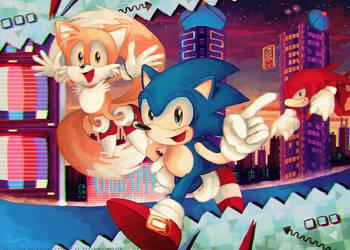 Sonic Mania: Studiopolis Zone by MissNeens