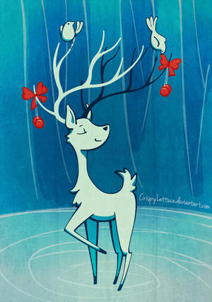 Adoring Deer by CrispyLettuce