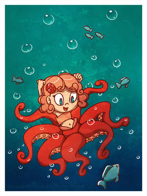 Octomaid (Monster Girl 08) by CrispyLettuce