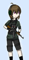 Digital Art - Military Girls - AK-47 by Tukari-G3