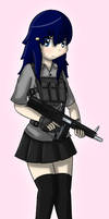 Digital Art - Military Girls - AA-12 Shotgun by Tukari-G3