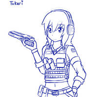 Digital Sketch - Pistol Chan by Tukari-G3