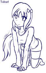 Digital Sketch - Kneeling by Tukari-G3