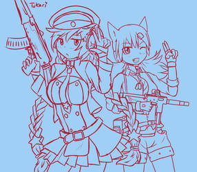 Digital Sketch - Girls' Frontline: OTs-12 and IDW by Tukari-G3