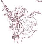 Digital Sketch - Shiori Combat by Tukari-G3