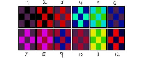 Checker Board Colours Idea 1 by DarkLadyShadow