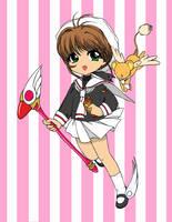 Sakura and Kero by pathetic-me