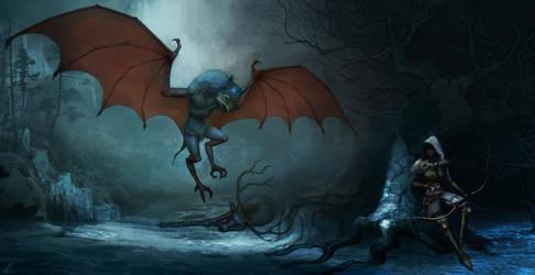 Hunting the Megarodon by Vitaj