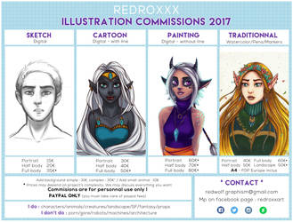 Commissions Prices 2017 by Red-Zephyr
