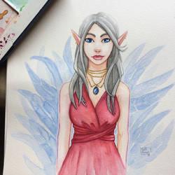 Elf Watercolor by Red-Zephyr