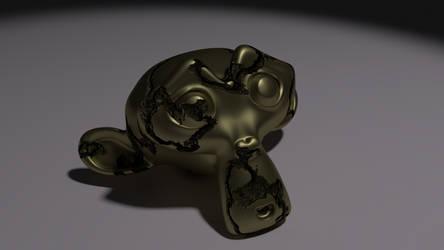 Golden Monkey With Cracks by LanceRodriguez