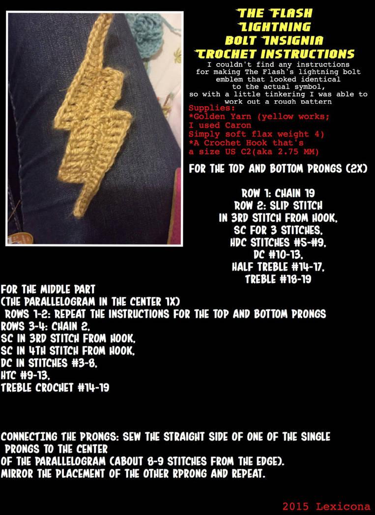 Flash Lightning Bolt Crochet Diagram Tutorial By Lexicona96 On Diagrams For Beginners