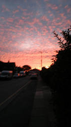 Chemtrail cloud Sunset! by Badwolf66