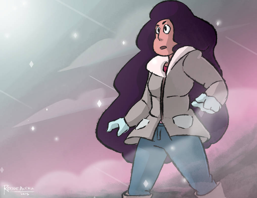 I was experimenting on how Stevonnie would look like if Steven and Connie fused while in their winter clothing. And since I like putting backgrounds and such, I just made it look like as if they di...