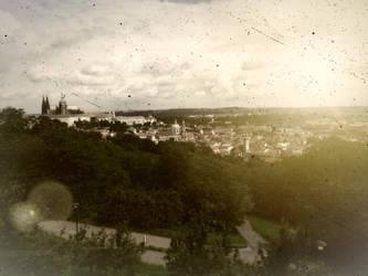 City in golden gleam - Prague by Weltendaemmerung