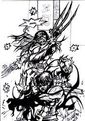 wolverine in my stile by david1983pentakill